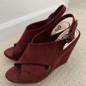 Suede Charming Charlie Wedge heels
